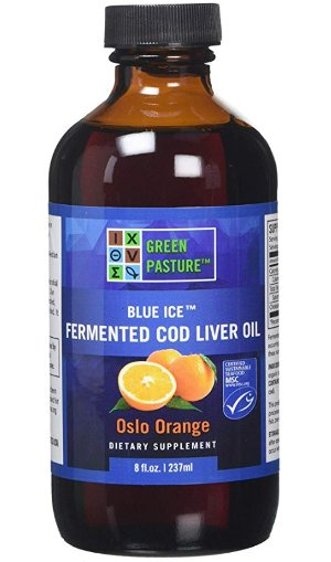 Green Pasture Blue Ice Fermented Cod Liver Oil - Oslo Orange (237ml) by Green Pasture Blue Ice